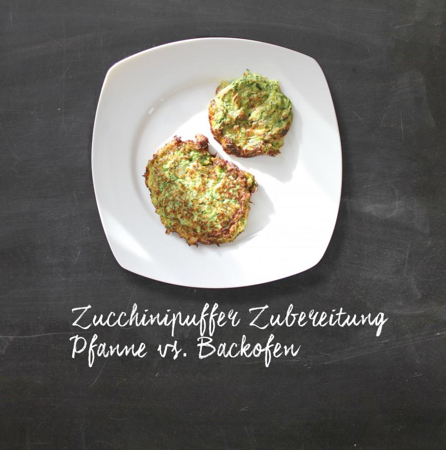 zucchinipuffer zubereitung pfanne vs backofen sandra wirtz. Black Bedroom Furniture Sets. Home Design Ideas